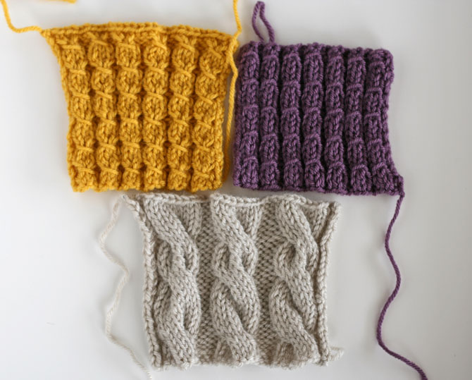 learning how to knit cables using vanna's choice yarn by lion brand